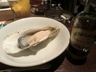 ジャックポット 生牡蠣とボウモア