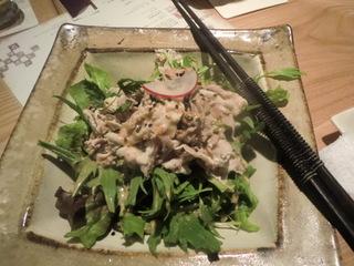 でんのしおり 黒豚と京水菜の胡麻サラダ