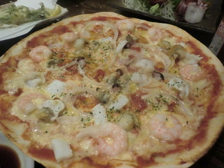 北海 シーフードピザ
