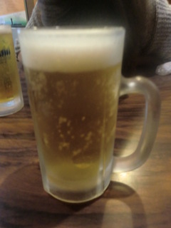 やきとりの二条 生ビール