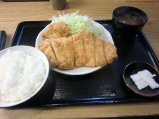まるや コンビかつ定食�@