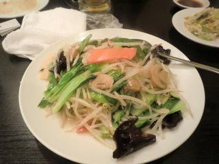 清華楼 野菜炒め