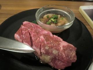 安楽亭渋谷道玄坂店 厚切りの上ロースステーキ