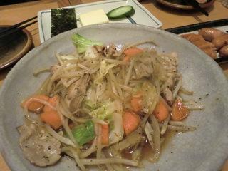 杵屋 肉野菜炒め