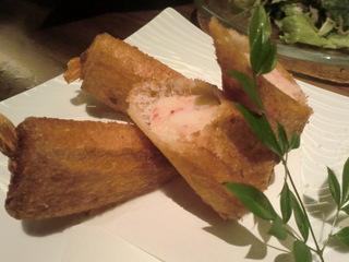 旬のサカナと旨い酒 海仙楽 海老すり身トースト揚げ